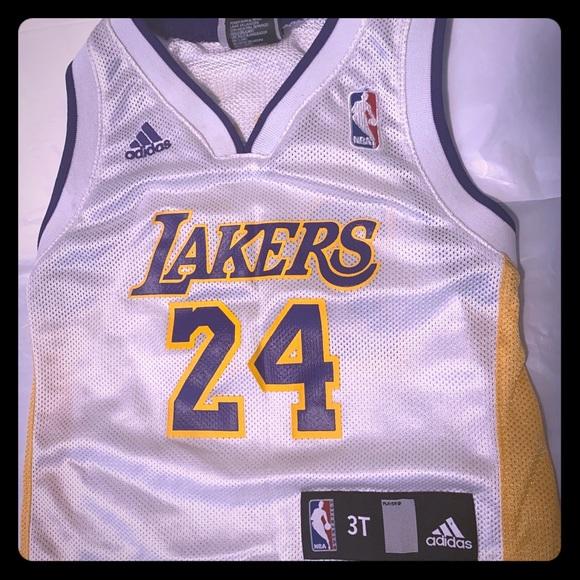 Kobe Bryant NBA Adidas White Jersey size 3T.